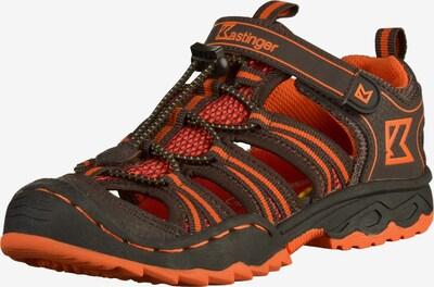 Kastinger Sandalen in de kleur Donkergrijs / Neonoranje, Productweergave