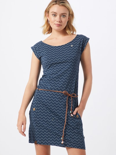 Ragwear Kleid 'TAG ZIG ZAG' in blue denim / offwhite, Modelansicht