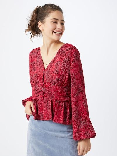 VERO MODA Bluza 'CASSIE ZIGGA L/S BUTTON' | češnjevo rdeča barva, Prikaz modela