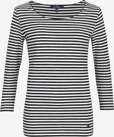 DANIEL HECHTER Shirt mit Rundhalsausschnitt in schwarz / weiß, Produktansicht