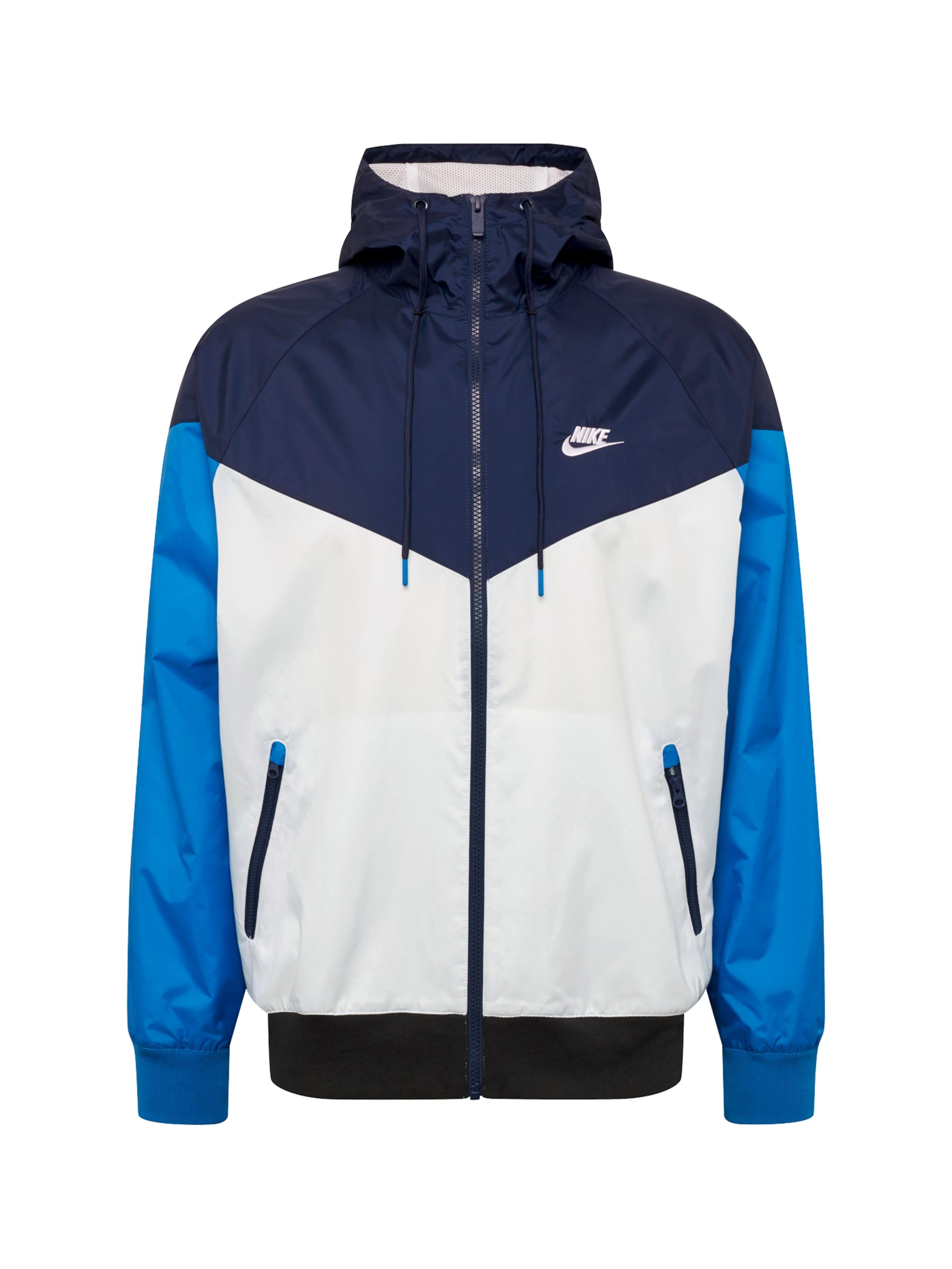 Jacke Sportswear Weiß Nike In BlauDunkelblau wO8PNn0kXZ