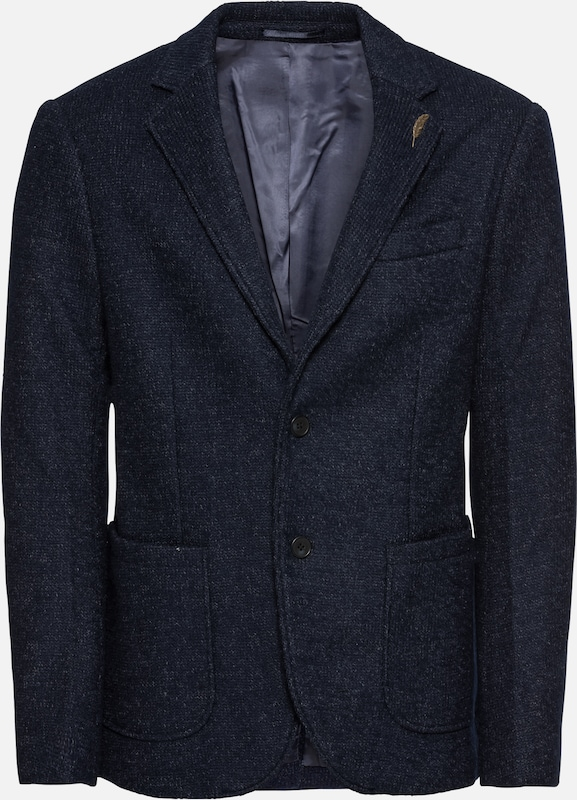 'heavy With One Tweed Pier De Costume Blazer En Bleu Pin' Veste Foncé TlcFKu13J