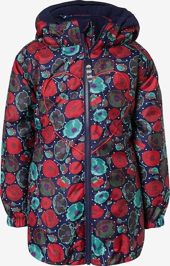 Racoon Outdoor Jacke 'Maritsa' in blau / grün / rot, Produktansicht
