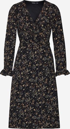 Boohoo Sukienka koszulowa 'Floral Wrap Maxi' w kolorze czarny / offwhitem, Podgląd produktu
