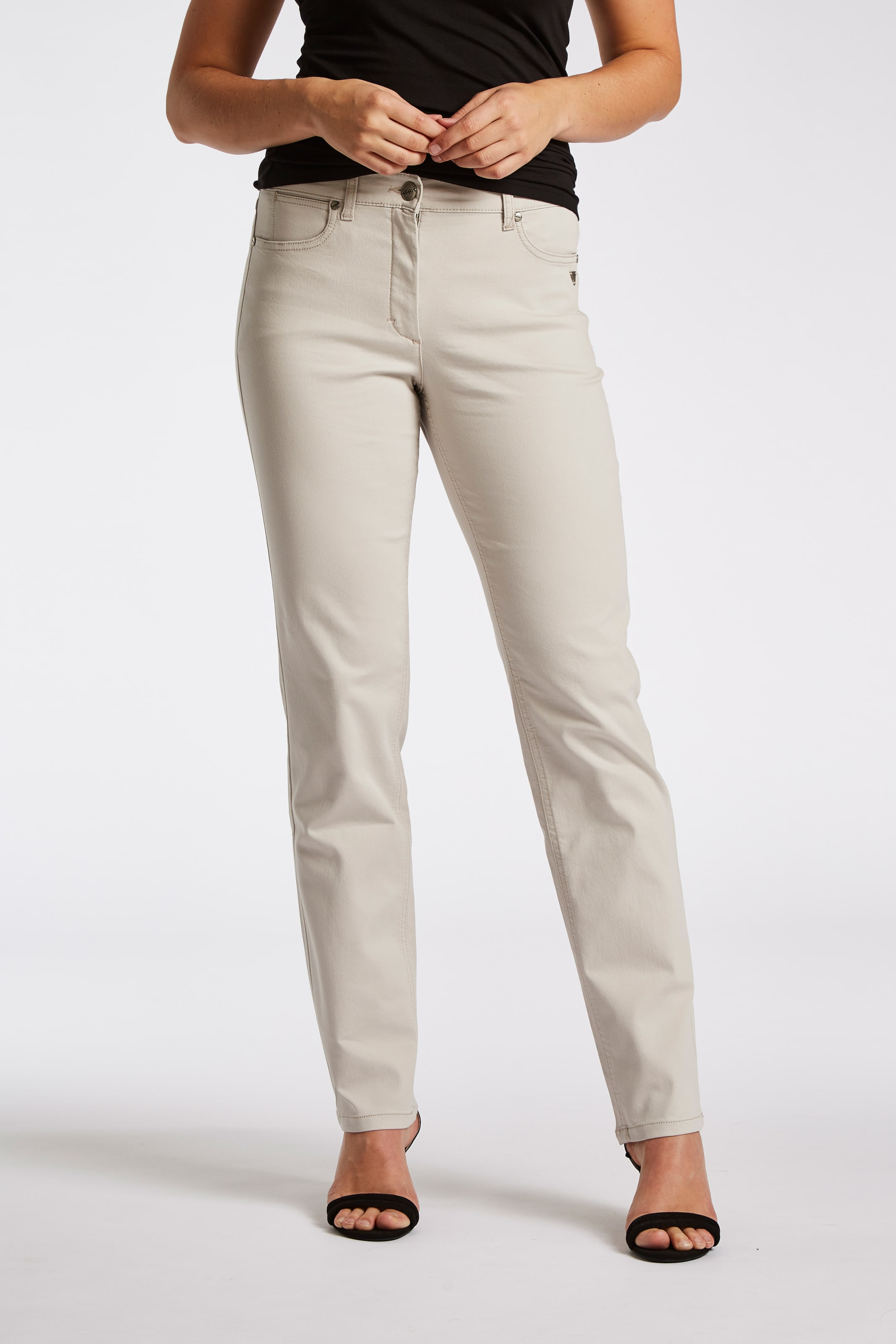 Laurie In style Beige Im 5 'charlotte' Stoffhose pocket OXNn0wk8PZ
