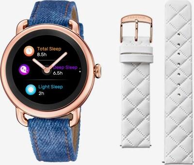 FESTINA Smartwatch in blue denim / rosegold / weiß, Produktansicht