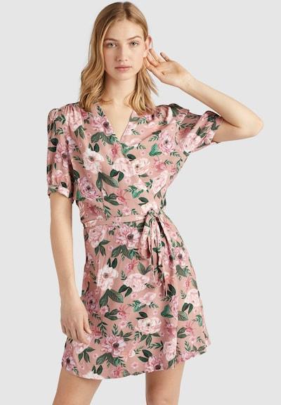 khujo Kleid ' FROMMET ' in grün / pink, Modelansicht