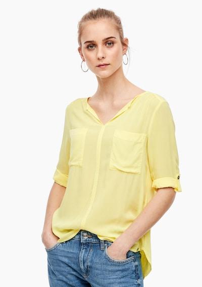 Q/S designed by Bluse in gelb, Modelansicht