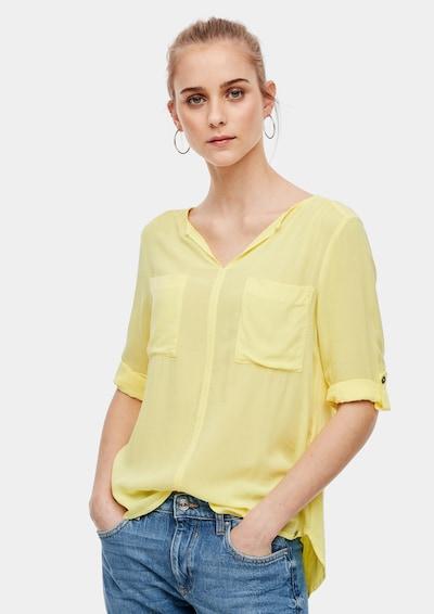 Q/S designed by Jersey/Webware-Bluse in gelb, Modelansicht