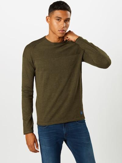 BLEND Pullover in khaki: Frontalansicht
