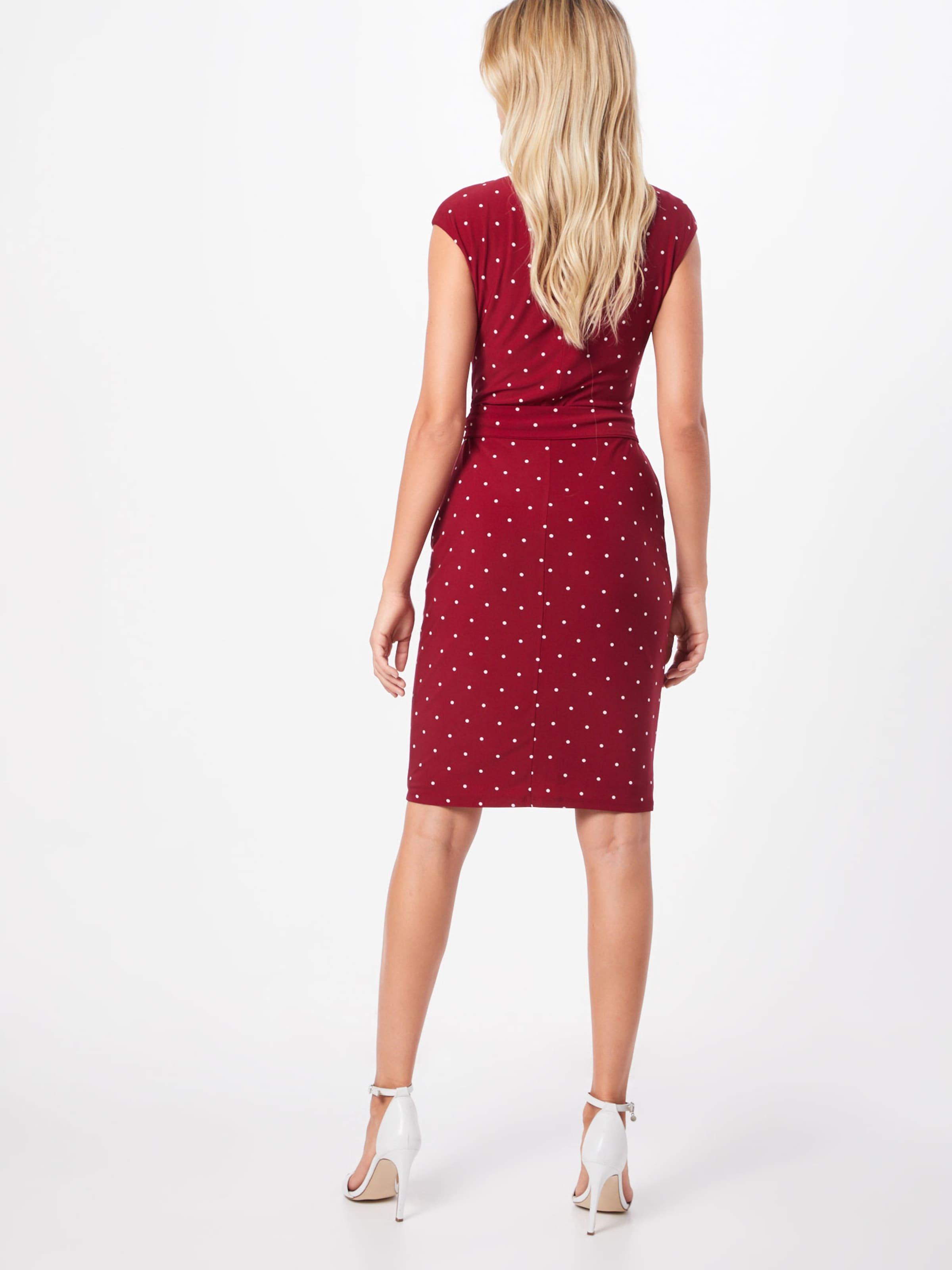Lauren Dress' In WeinrotWeiß Ralph day short Kleid 'vimaja Sleeve nPk8OX0w