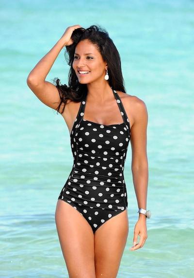 LASCANA Badeanzug in schwarz / weiß, Modelansicht