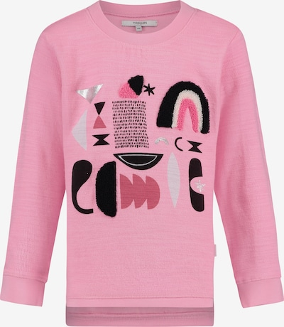 Noppies Sweater 'Porterville' in silbergrau / pink / schwarz, Produktansicht