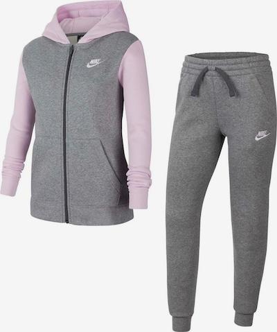 Nike Sportswear Jogginganzug (Set, 2 tlg.) in grau / rosa, Produktansicht