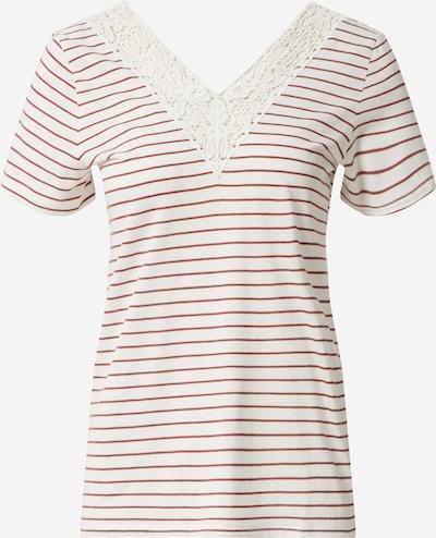VERO MODA Shirt 'VMHELA' in rot / weiß, Produktansicht