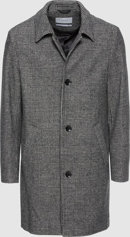 Esprit Collection Mantel 'Check Mac Coat' in grau  Bequem und günstig