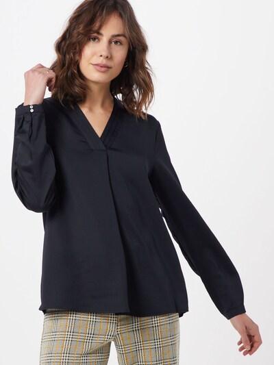 Esprit Collection Blouse 'New floaty satin' in de kleur Zwart: Vooraanzicht