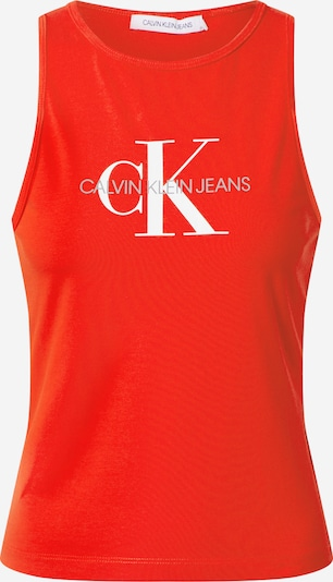 Calvin Klein Jeans Top 'MONOGRAM STRETCH SPORTY TANK' in rot, Produktansicht