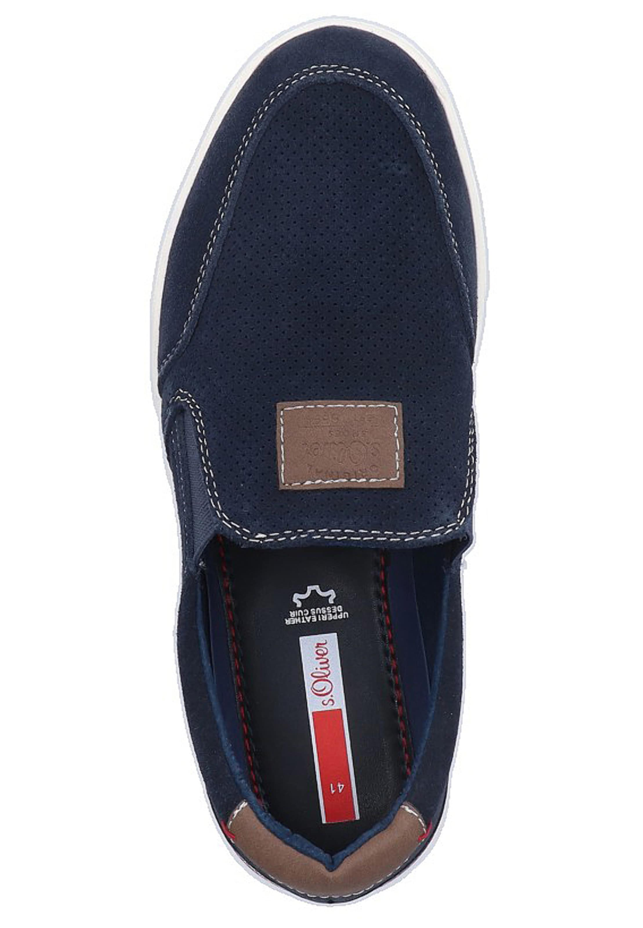Label Red Slipper In NavyBraun oliver S 2WDI9EH