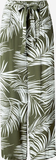 ONLY Broek 'Augustina' in de kleur Olijfgroen / Wit, Productweergave