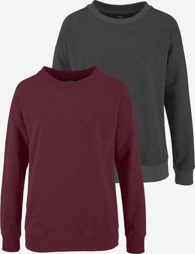 VIVANCE Sweatshirts 'Vivance Active' in anthrazit / bordeaux, Produktansicht