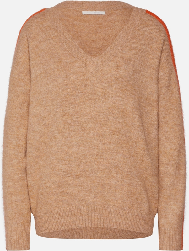 TOM TAILOR DENIM Pullover in camel / orange, Produktansicht
