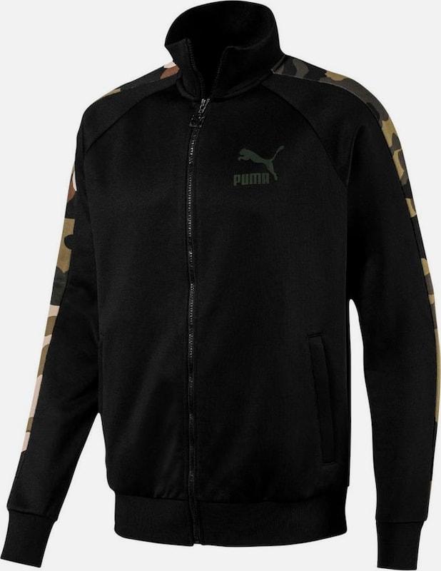 PUMA Trainingsjacke 'WILD PACK T7 TRACK JACKET' in khaki   oliv   schwarz  Markenkleidung für Männer und Frauen