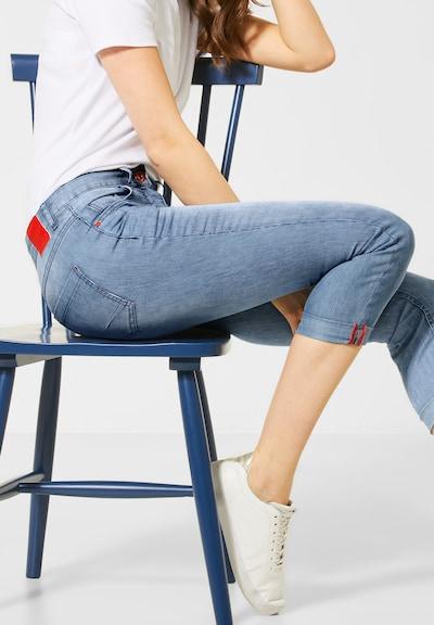 CECIL Denim mit feinen Streifen in blau, Modelansicht
