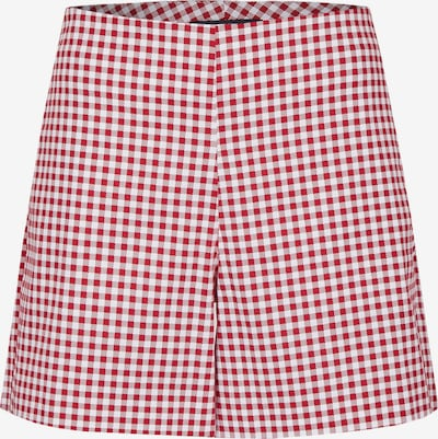 DANIEL HECHTER Sommerliche Shorts in rot / weiß, Produktansicht
