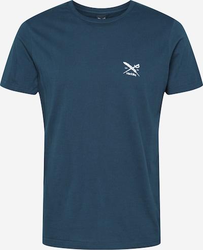 Iriedaily T-Shirt 'Chestflag' in petrol / weiß, Produktansicht