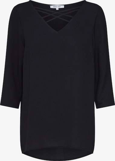 ABOUT YOU Bluse 'Leila' in schwarz: Frontalansicht