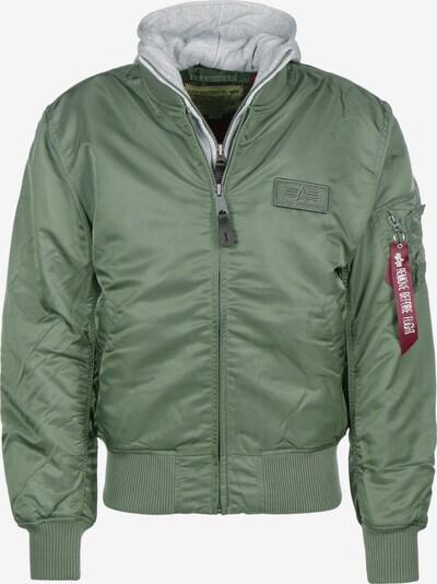 ALPHA INDUSTRIES Tussenjas 'MA-1 D-Tec' in de kleur Grijs gemêleerd / Groen, Productweergave