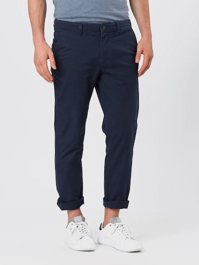 SELECTED HOMME Pantalon chino 'NEW PARIS' en bleu foncé, Vue avec modèle
