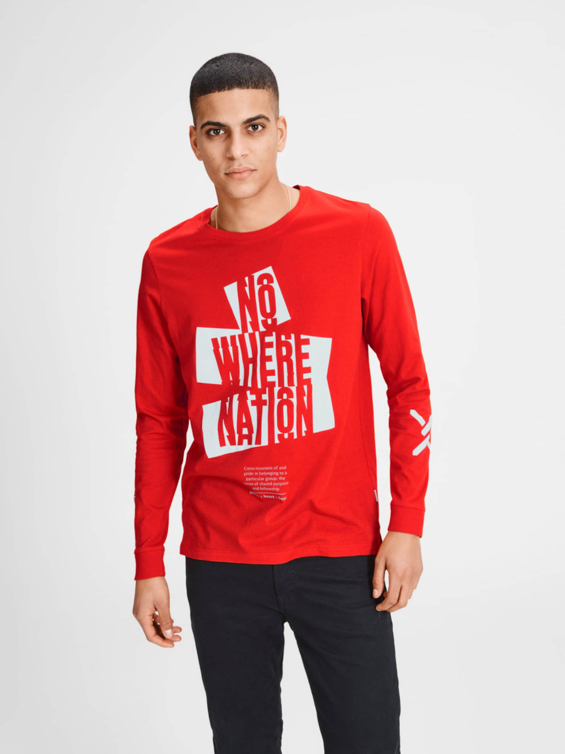 Schnelle Lieferung Günstiger Preis Verkauf Sast JACK & JONES Grafik T-Shirt mit langen Ärmeln Rabatt Günstigsten Preis Mit Visum Zahlen Zu Verkaufen nE7bXleloV
