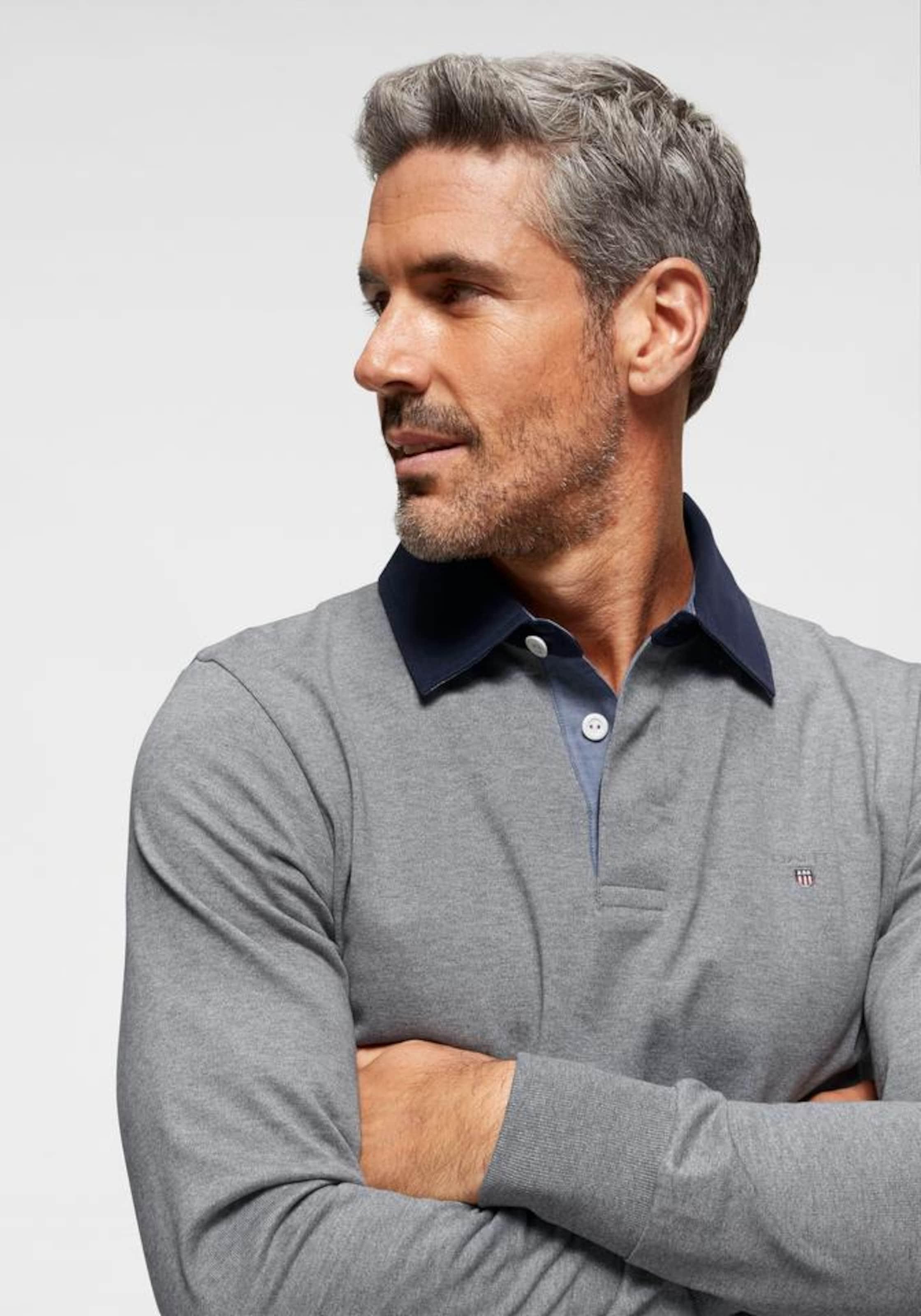 Shirt Graumeliert Rugger' Original In Gant 'the Heavy FJclK1