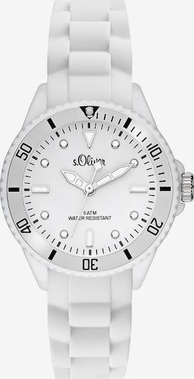s.Oliver Uhr 'SO-2296-PQ' in schwarz / silber / weiß, Produktansicht