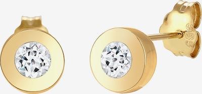 ELLI PREMIUM Ohrringe 'Kreis' in gold / weiß: Frontalansicht