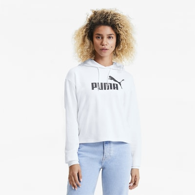 PUMA Sweatshirt in de kleur Zwart / Wit: Vooraanzicht