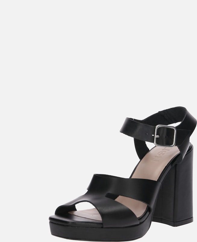 Zign Pumps 'Heeled Sandals' in de kleur Zwart, Productweergave