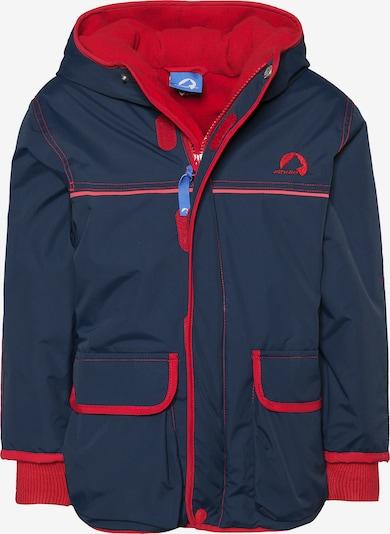 FINKID Outdoorjacke 'Talvl' in blau / rot, Produktansicht