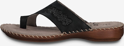 JANA Pantoletten in schwarz, Produktansicht