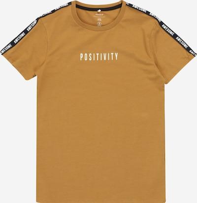 NAME IT Shirt 'Kito' in bronze / schwarz / weiß, Produktansicht