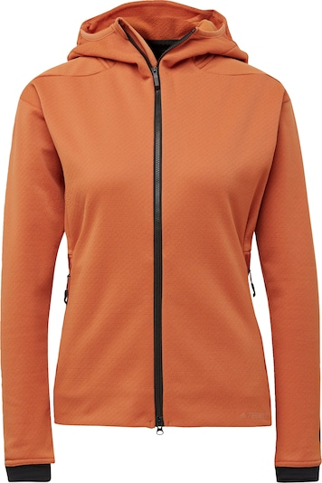ADIDAS PERFORMANCE Functionele fleece jas in de kleur Cognac, Productweergave