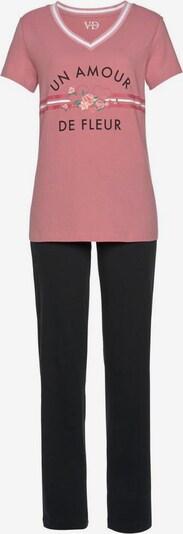 VIVANCE Pyjama in rosé / schwarz, Produktansicht