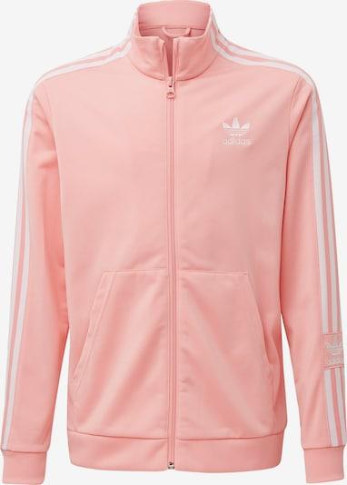 ADIDAS ORIGINALS Sweatjacke in rosa / weiß, Produktansicht