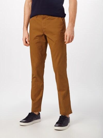 Kelnės 'V-ESSENTIAL KHAKI SLIM FIT' iš GAP , spalva - ruda, Modelio vaizdas