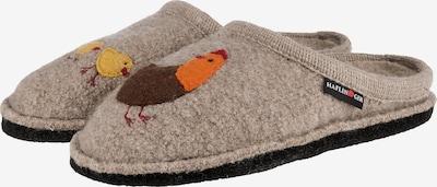 HAFLINGER Pantoffeln 'Gallina' in beige / dunkelgelb / dunkelorange, Produktansicht
