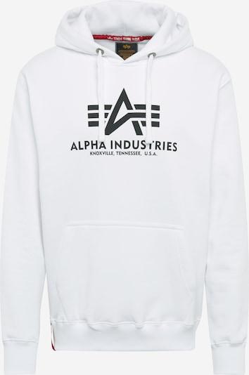 ALPHA INDUSTRIES Sweater majica 'Basic' u crna / bijela, Pregled proizvoda