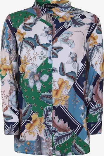 seeyou Bluse in grün / mischfarben, Produktansicht