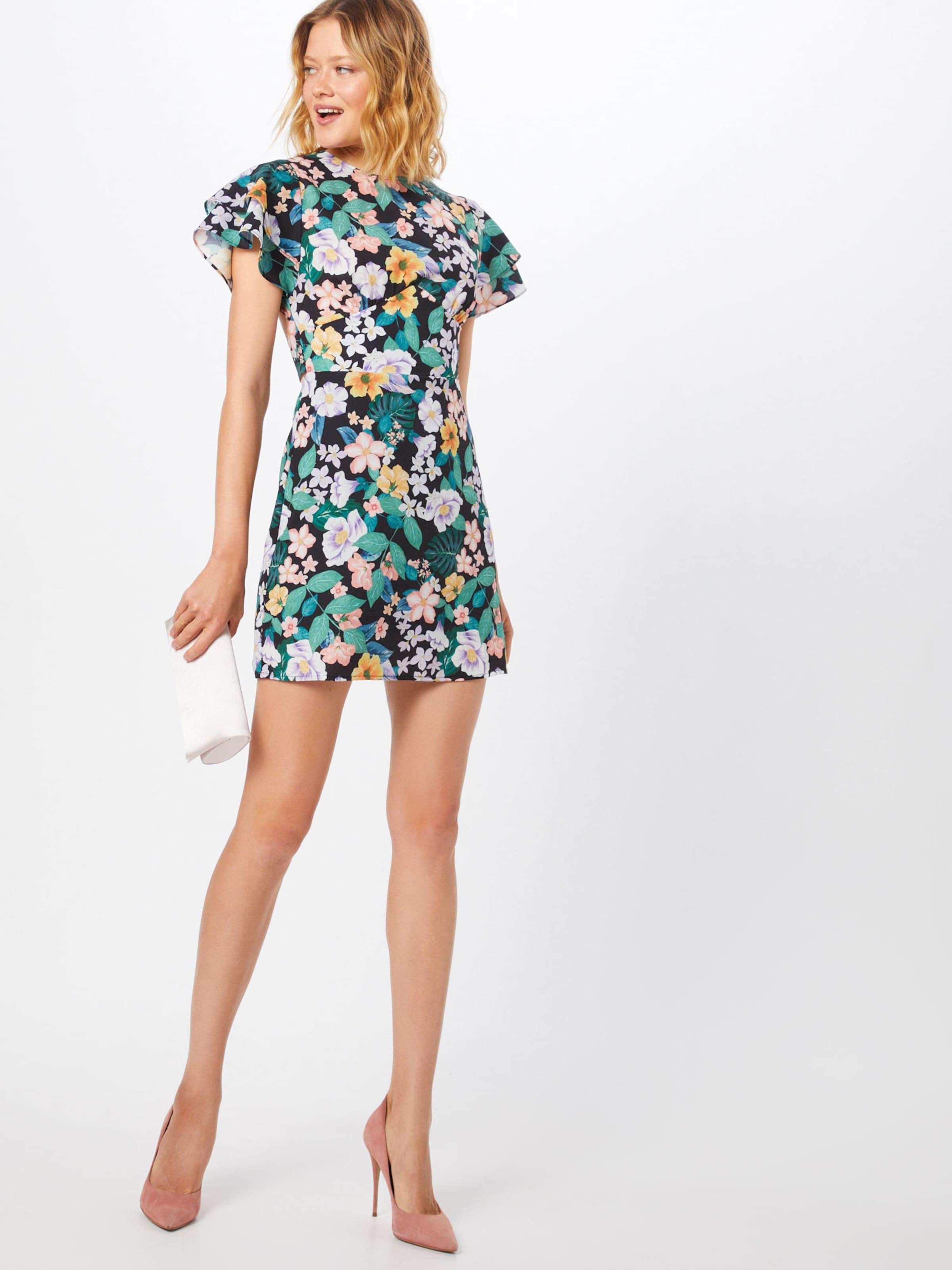En Blanc Robe Union JauneVert Fashion 'poulard' NPX8On0wk